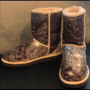 Metallic Sequin UGG Boots, 7